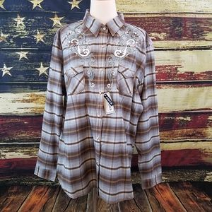 PANHANDLE SLIM ROUGH STOCK SNAP UP WESTERN SHIRT